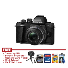 Olympus OM-D E-M10 Mark II 14-42mm EZ Hitam - FREE Accessories
