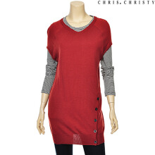 [CHRIS CHRISTY] Women raglan sleeve knit BU (KCYBLLF2521) Red 85
