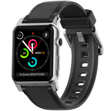 NOMAD Silicone Strap for Apple Watch 42MM - Silver