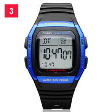 Casio W-96H-2A Sports waterproof electronic watch-Black&Blue