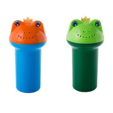 [OUTAD] The New Cartoon Frogs Shape Baby Shampoo Shield Shower Cup Bath Products Blue