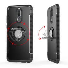 RockWolf Huawei nova 2i case Silicone metal ring shell magnetic bracket soft shell
