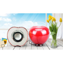 Mini USB Laptop Speaker Box Small Sound Portable Sound apple Red