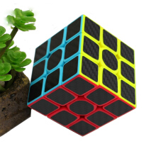 BL Zcube Carbon Fiber Sticker 3x3x3 Speed Magic Cube Puzzle Toys -One Size -Multicolor