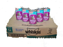 Whiskas Tuna can 400gr per box, 1 box = 24 kaleng ( can )