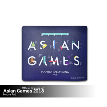 Asian Games 2018 Mousepad - Square - Blue