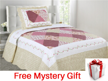 VINTAGE STORY Shabby Bed Cover Set Korea Size Single 150x200 cm/P1H