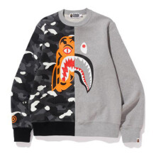 BAPE CITY CAMO TIGER SHARK CREWNECK GRAY