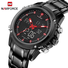 PEKY NAVIFORCE  Men Waterproof Sports Military Watches Men's Quartz Analog Digital Wrist Watch