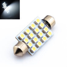 JMS - 1 Pair (2 pcs) Lampu LED Mobil Kabin / Plafon / Festoon / Double Wedge 16 SMD 1210 41mm - White