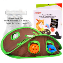 [kingstore]Puzzle nine hole mouse hole with bell ball toy hot cat supplies Green Green