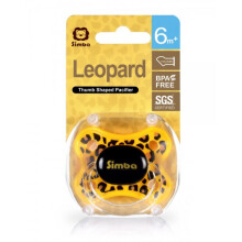 Simba Leopard Thumb Shaped Pacifier 6m+