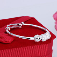 Baby Jewelry For Girls Silver Bracelet Adjustable Baby Silver Non-allergic silver