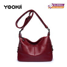 YOOHUI PD7 Women leather handbag female casual handbag shoulder bag design zipper
