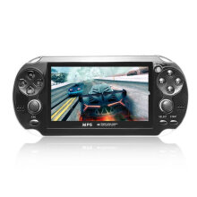 COZIME 4.3inch Screen Game Console 8GB Memory Free Games MP5 Player With Camera White