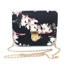 Farfi Women Floral Butterfly Print Mini Chain Shoulder Bag