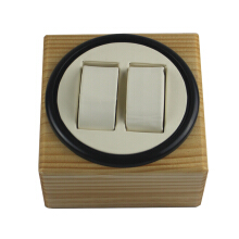 Watch Winder, LTCJ Wooden Automatic Rotation 2 + 0 Watch Winder Storage Case Tampilan Kotak Bw White Small