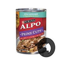 ALPO 374 gr prime cuts stew with beef and vegetables in gravy