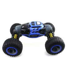 [kingstore] ZG-UD2168A RC Car Double-sided One Key Transformation Climbing Toy Blue