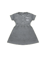 Hey Baby Hailey Daily Dress (Grey) Dress Bayi