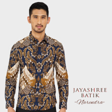 JAYASHREE BATIK Slim Fit Long Sleeve Narendra - Black