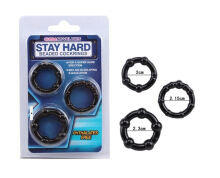 Beaded Cock Ring Silicone Stay Hard