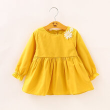 Children Clothing Girls Clothing Cotton Long sleeved Doll Children Dress