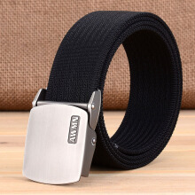 AWMEINIU Original wild canvas belt smooth buckle men's belt