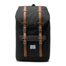 HERSCHEL Little America Backpack 10014-00001-OS - Black/Tan Synthetic Leather
