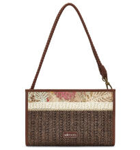 Sakroots Mini Crossbody Bag Tan Wild Life