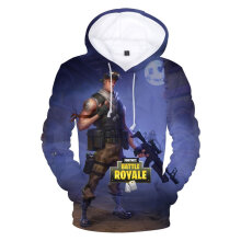 Trendy Fashion Sweatshirts Personalized 3D Digital Print Loose Hooded Pullover M