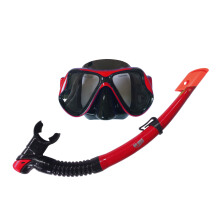 GODIVE Alat Selam Diving Snorkeling Mask & Snorkel Set M266+Box-Red - All Size