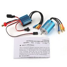 COZIME SurpassHobby 2838 4500KV Brushless Motor + 35A ESC for RC Car Boat Blue