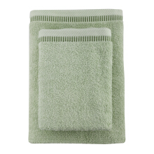 JOYHOME Towel By Terry Palmer Cotton Candy Set of 2/360gr (Bath 70x30cm&Travel 50x90cm)-Green