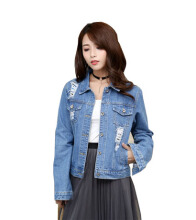 DAVID777 Original denim jacket fashion loose casual patch slim short coat