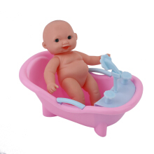 Simulated Infant Early Educational Play Set Doll Handmade Baby Bath Bathtub