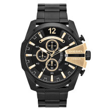 Diesel DZ4338 Mega Chief Analog Men Black Dial Black Stainless Steel [DZ4338]