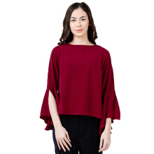 THE EXECUTIVE Women 5-BLWKEY118D046 Blouse - Maroon