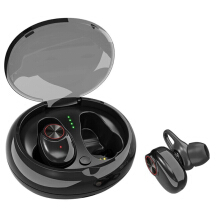Blitzwolf [True Wireless] ESON Style TWS Dual Bluetooth Earphone Portable Bass Stereo Earbud with Charging Box Black  - Black -