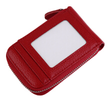 [LESHP]Simple Style Woman Classic Leather Handbag Wallet Cards Mobile Phones Purse Red