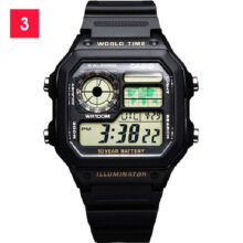 Casio AE-1200WH-1B Sports double display waterproof electronic watch-Black