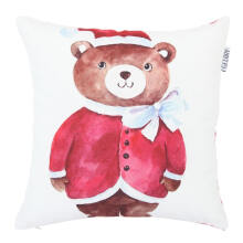 GLERRY HOME DECOR Santa Bear Cushion  - 40x40Cm