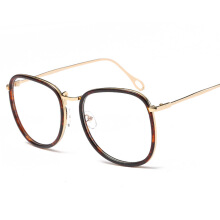 XQ-HD Man Eyeglasses Round Plain Mirror Frames Women Korea Optical Eyewear Nerd Prescription Myopia With Clear Lens -