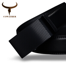 COWATHER Good mens belt luxury high quality cow genuine leather belts for men automatic buckle