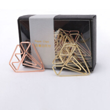 xzante New arrival bookmark diamond clip rose gold clip gold staples stationery befriend metal Paper clip
