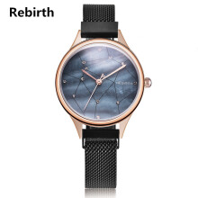 Jam Tangan Rebirth Wanita Stainless Steel Fashion Bisnis Luxury Design