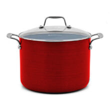 ECOPAN Colour Stock Pot 8qt/24cm - Red