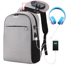 YOOHUI USB Charging Laptop Backpack 15.6 inch Anti Theft Women Men School Bags For