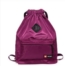 Runetz R-1011 Lightweight waterproof nylon backpackwith Drawstring Design travel bag(45*15*31CM)-Purple