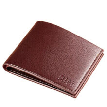 AIM ZP100 Men's leather Cowhide two fold horizontal section leather card holder wallet multi-function wallet-Coffee